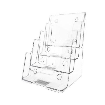 Brochure Holder (Desktop 4 Tiers) - A4 Size