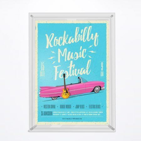 Acrylic Frame w/ Spacer (Pocket) - A4 Size