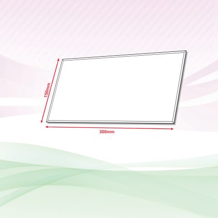 Acrylic Sign (Transparent) - 4mm x 150mm x 300mm