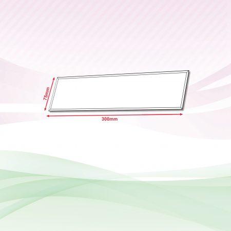 Acrylic Sign (Transparent) - 4mm x 75mm x 300mm