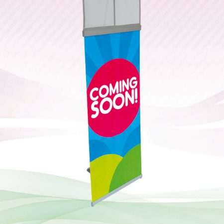 I-Banner Stand with 2 holder (System Only) - Grey