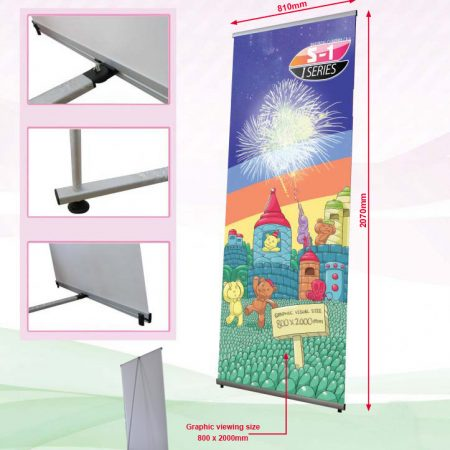 I-Banner Stand (System Only) - Grey