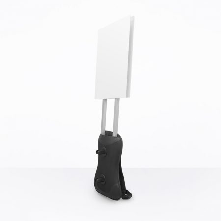 Man Pack Mobile Sign with Alum. Bars (System Only) - Blank A2 Size TP Boards