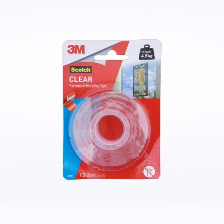 3M Clear Permanent Mounting Tape - 21mm x 2m